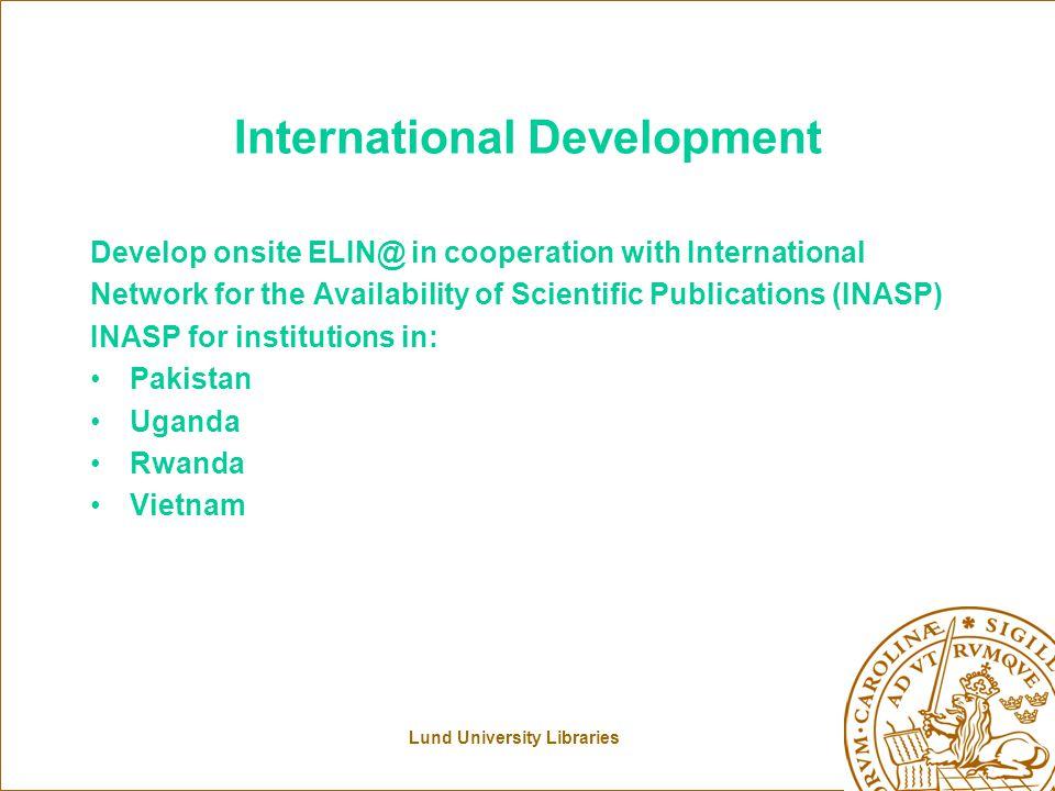 Lund University Libraries ELIN@ user interface