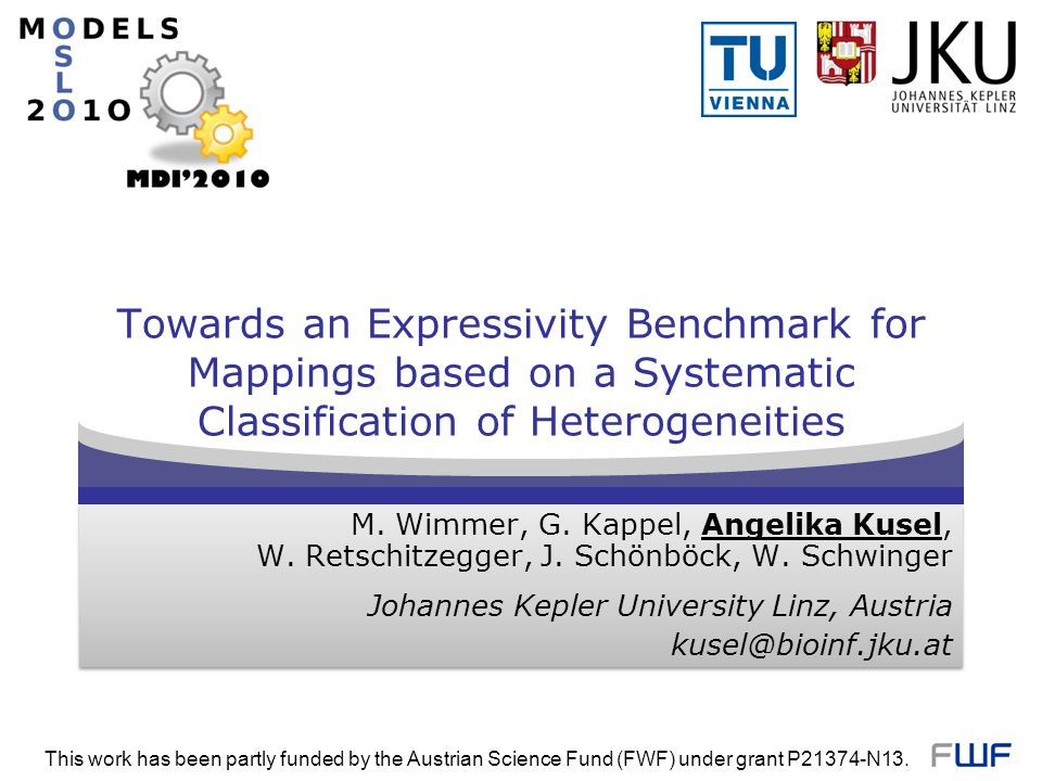 Towards an Expressivity Benchmark for Mappings based on a Systematic Classification of Heterogeneities M. Wimmer, G. Kappel, Angelika Kusel, W. Retsch