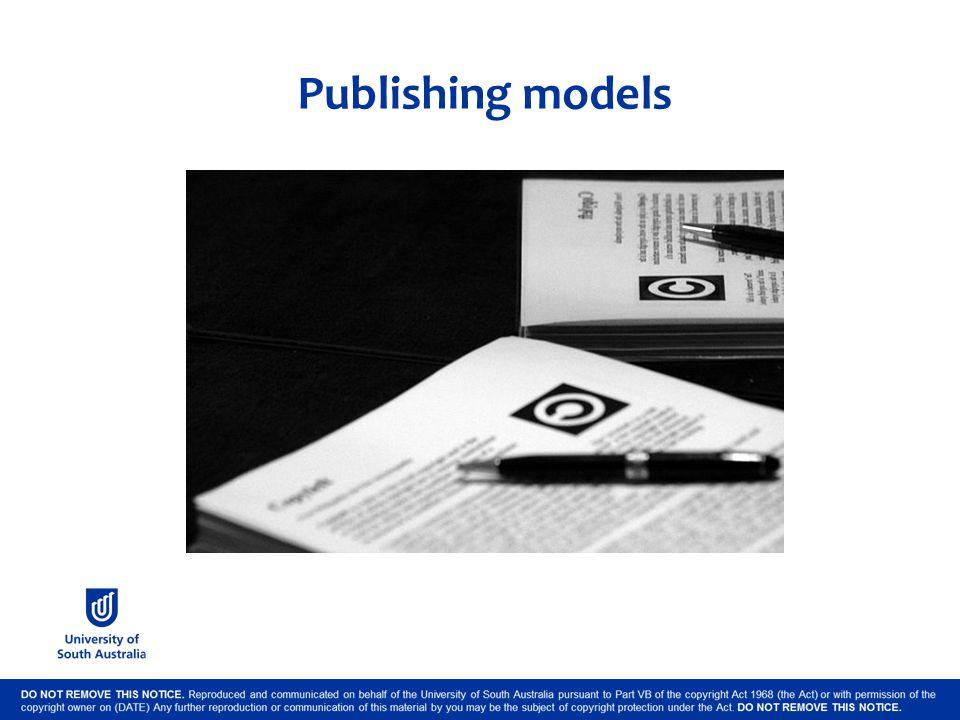 Publishing models