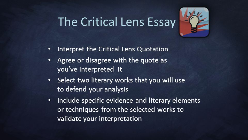 Quote help please ( critical lens essay)?