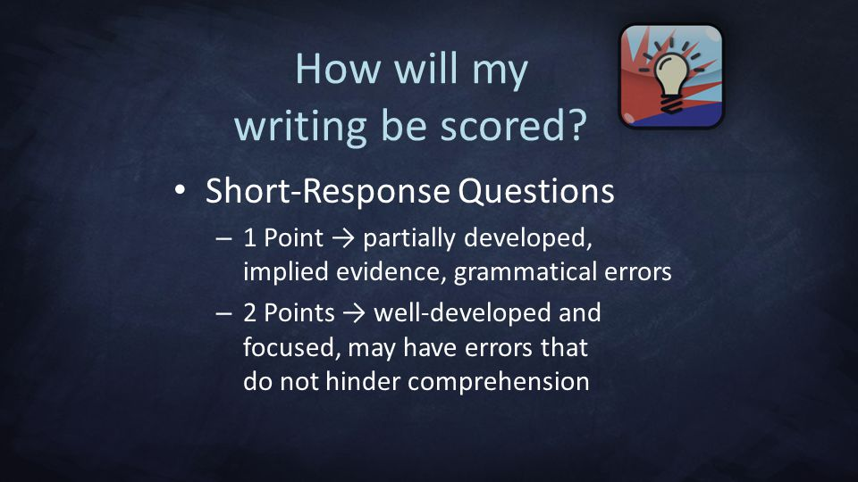 How will my writing be scored.