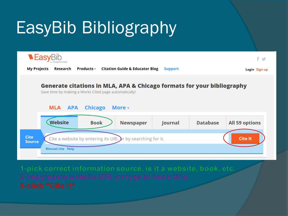EasyBib Bibliography
