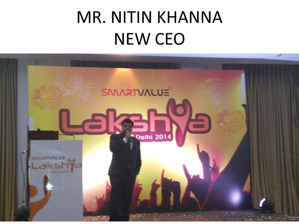 MR. NITIN KHANNA NEW CEO