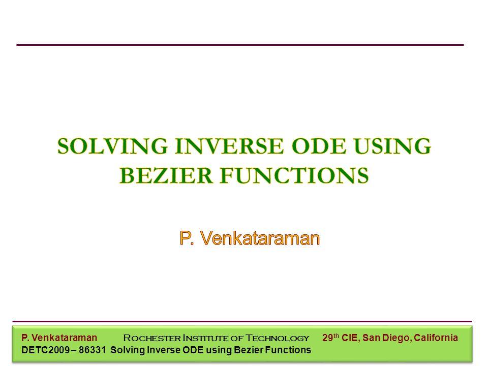 P. Venkataraman Mechanical Engineering P.