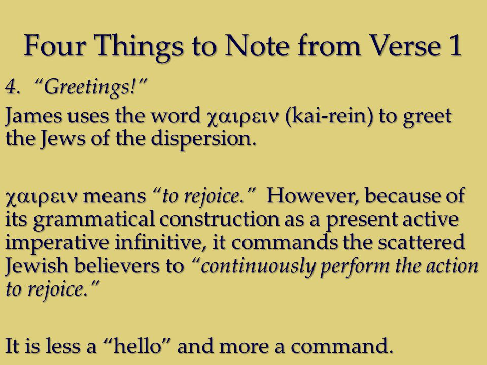 Four Things to Note from Verse 1 4.