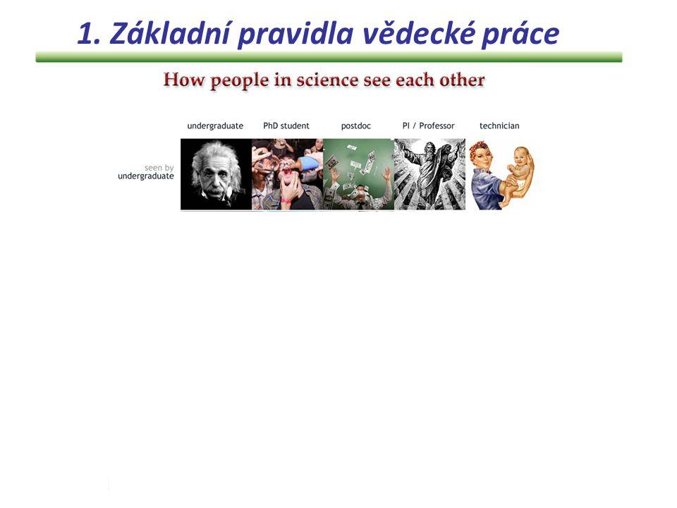 1. Základní pravidla vědecké práce