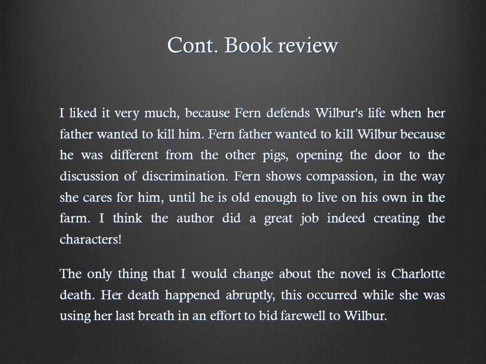 Cont. Book review Cont.