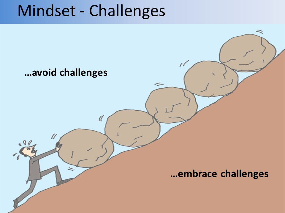 Mindset - Challenges …embrace challenges …avoid challenges