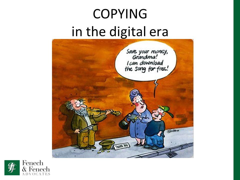COPYING in the digital era
