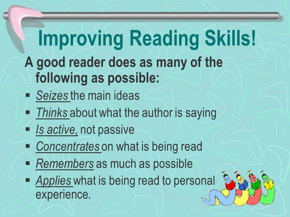 Improving Reading Skills.