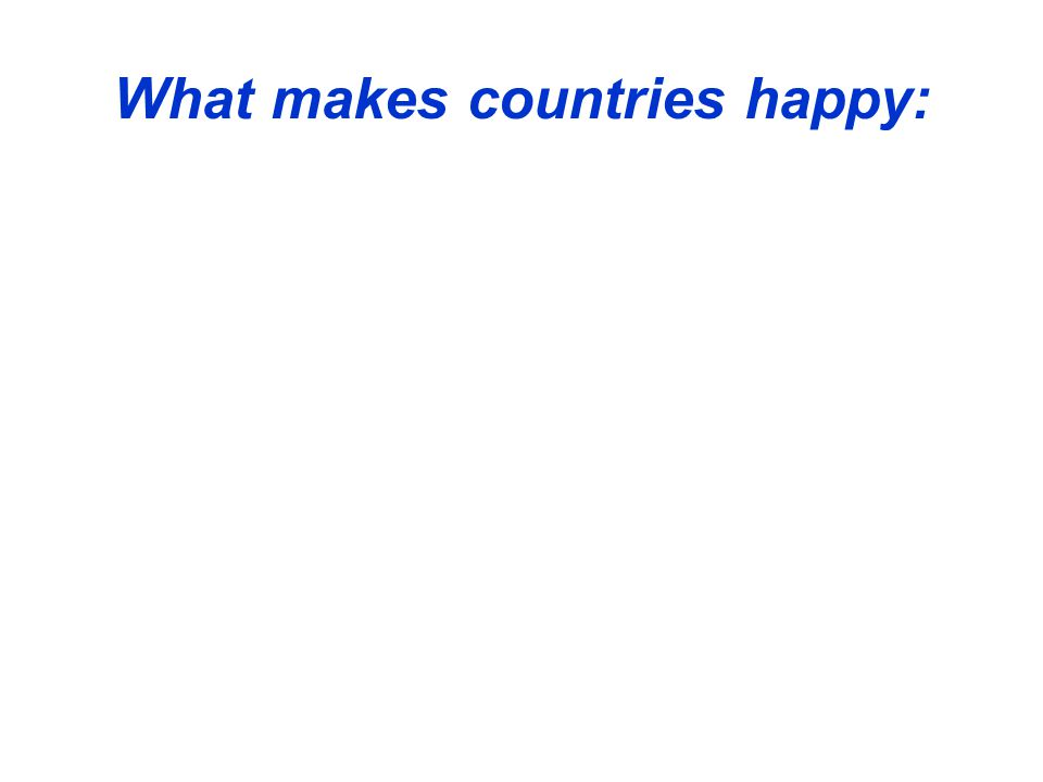 What makes countries happy: