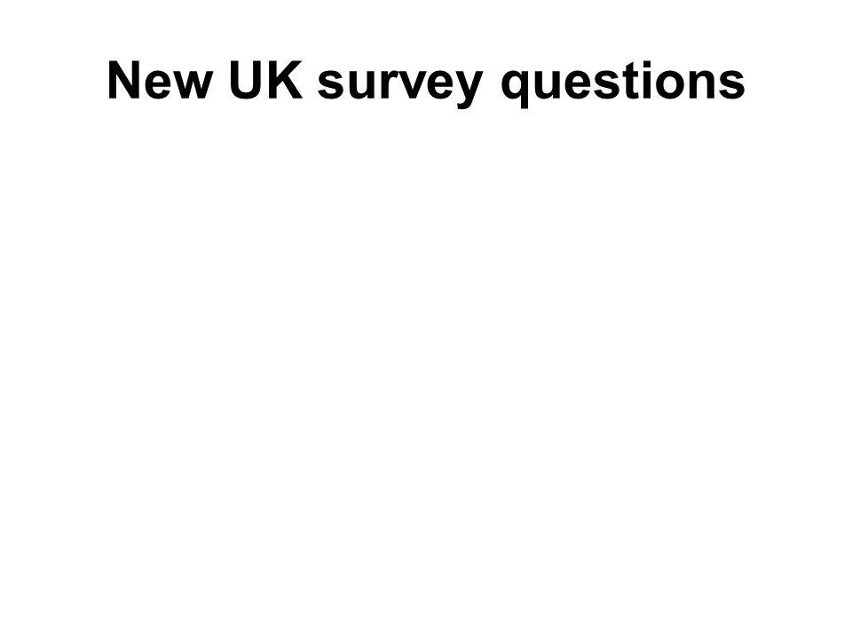 New UK survey questions