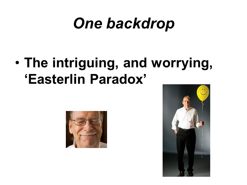 The intriguing, and worrying, 'Easterlin Paradox'