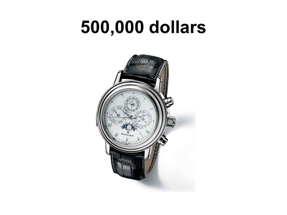 500,000 dollars