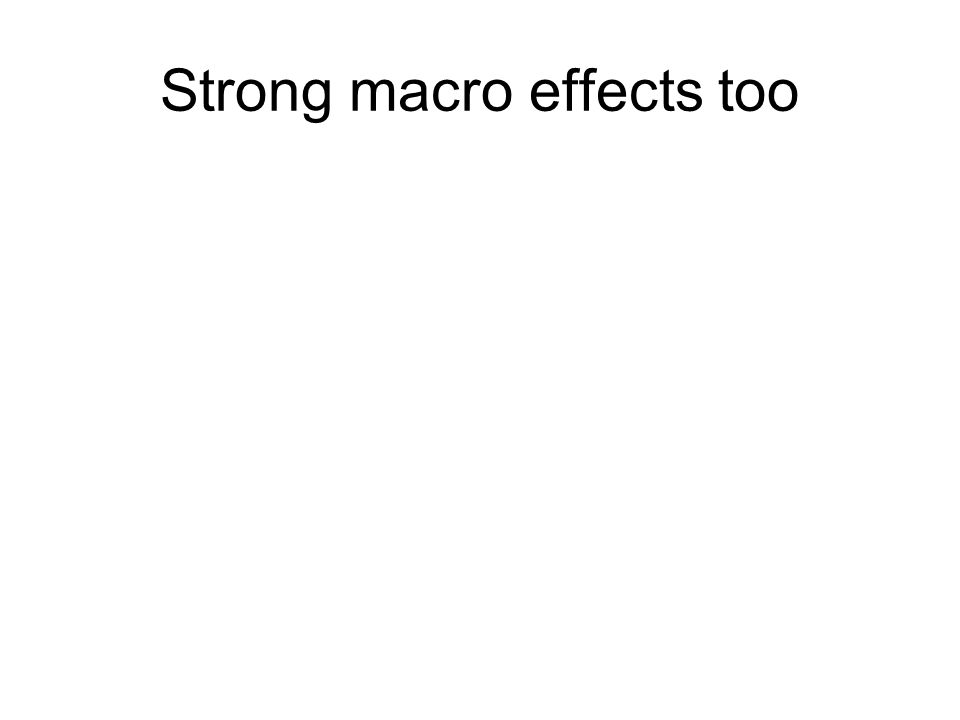 Strong macro effects too