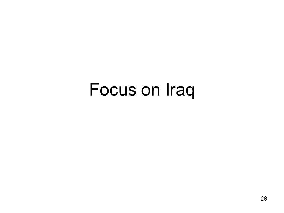 Focus on Iraq 26
