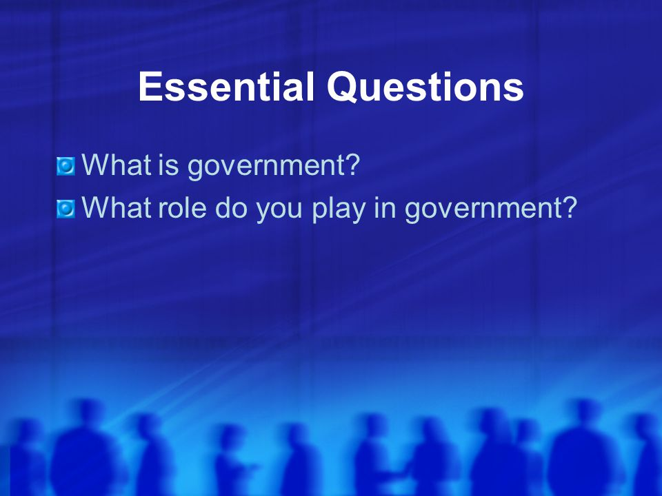 Preparing to Find Out KWL Chart about what we think we know about our government Guiding questions: 1.