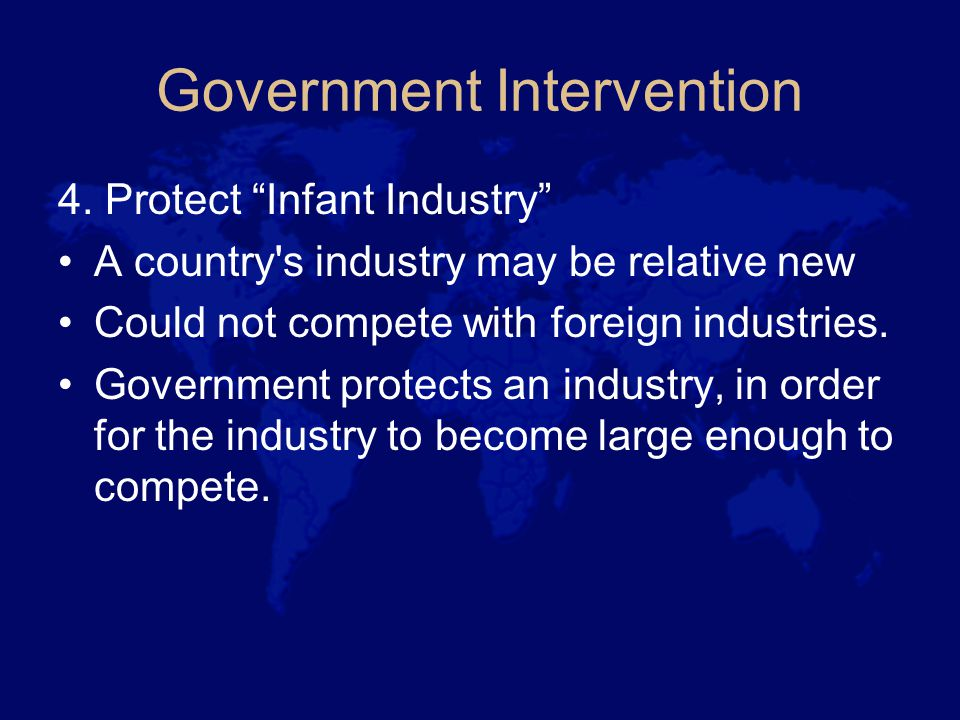 Government Intervention 4.