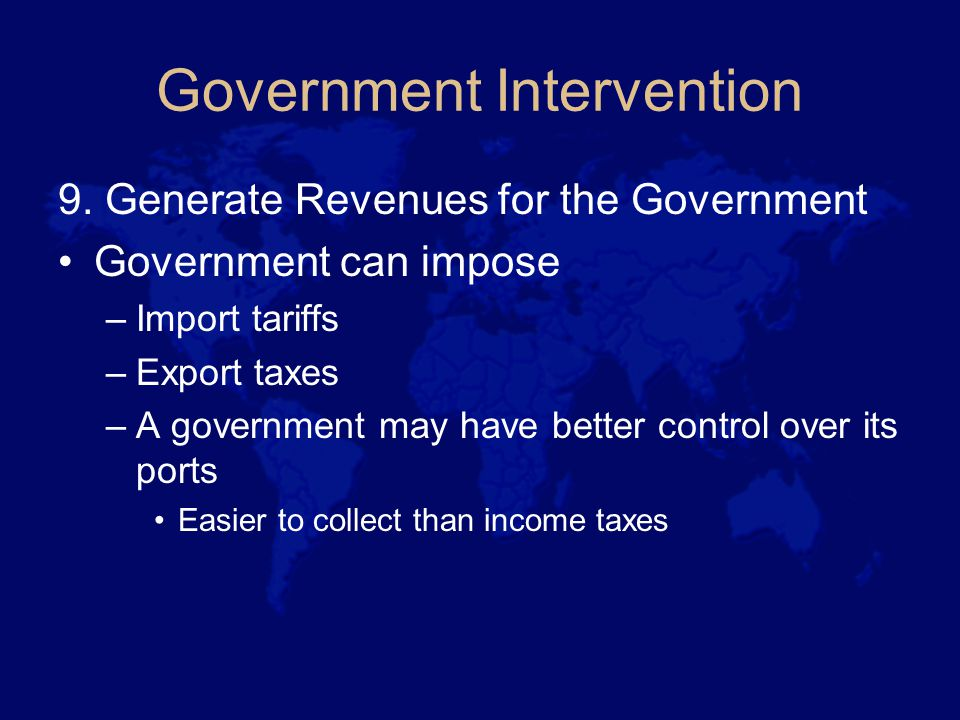 Government Intervention 9.