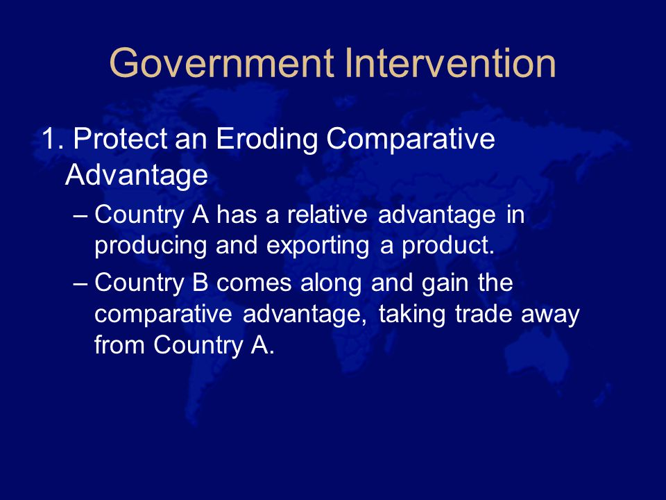 Government Intervention 1.
