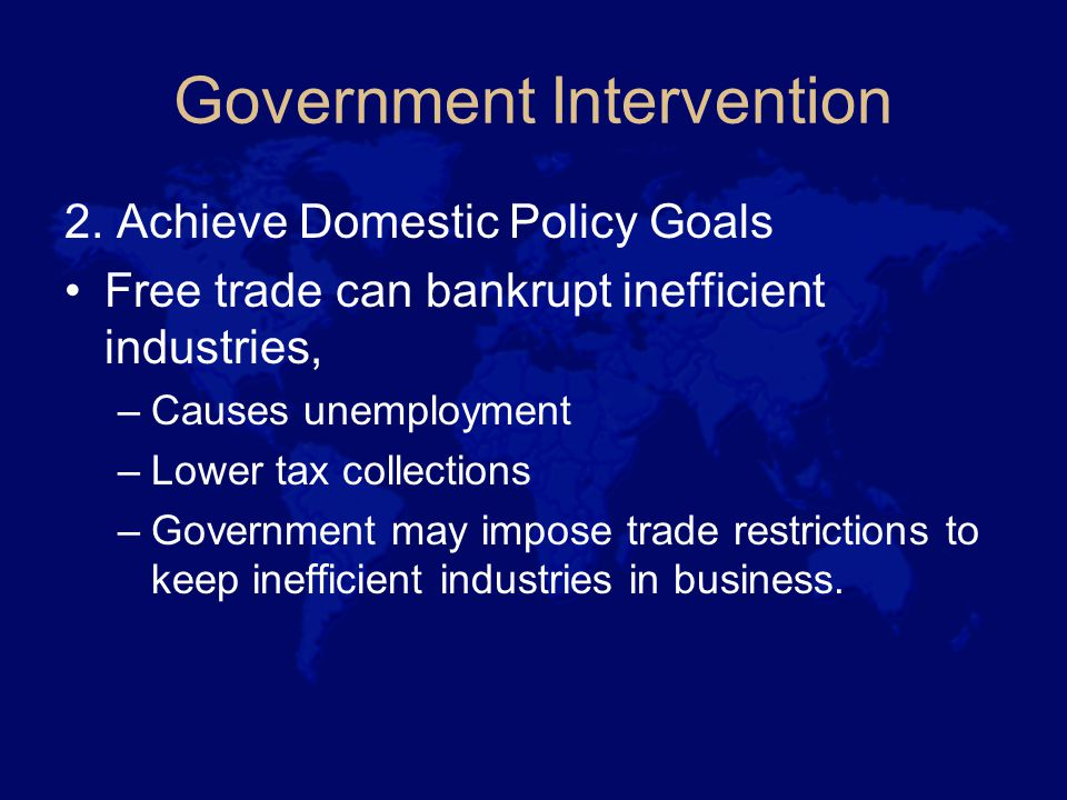 Government Intervention 3.