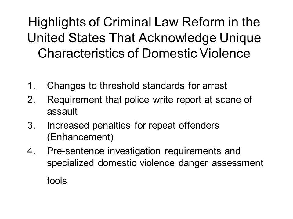 Changes to Threshold Standards for Arrest
