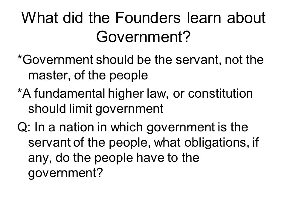 From What Forms of Government Could the Founders Choose.