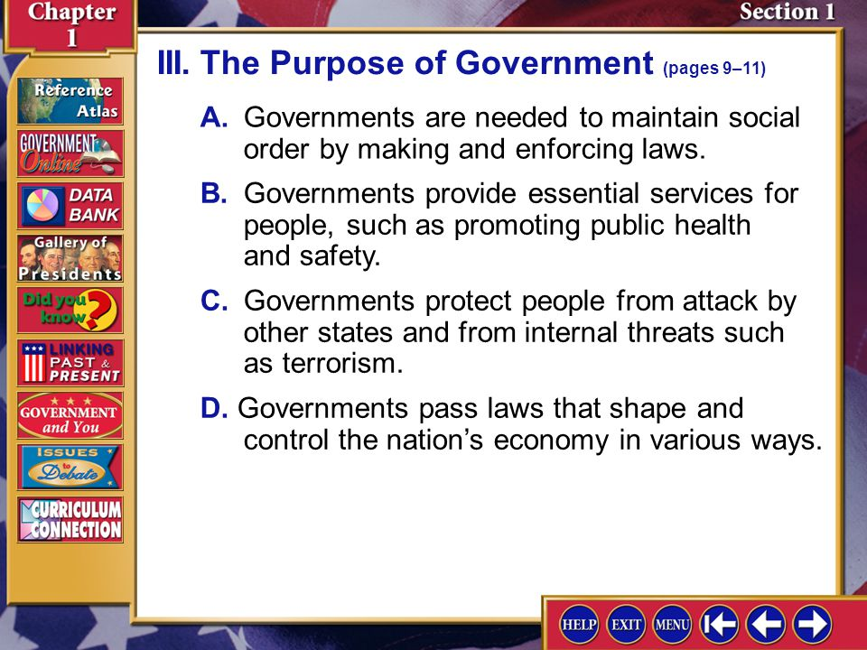 Section 1-8 Do you think the government has too much or too little control over the economy of the United States.