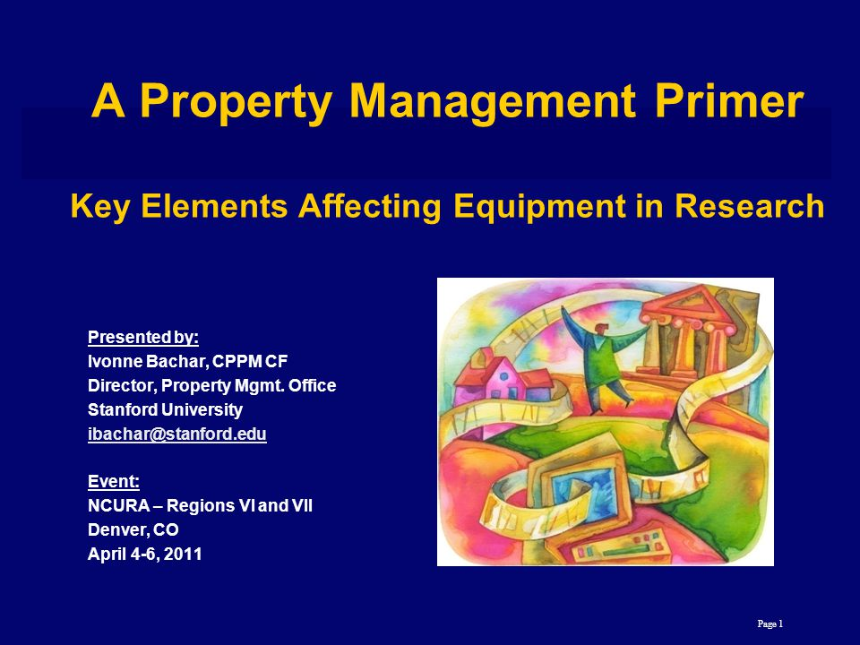Presented by: Ivonne Bachar, CPPM CF Director, Property Mgmt.