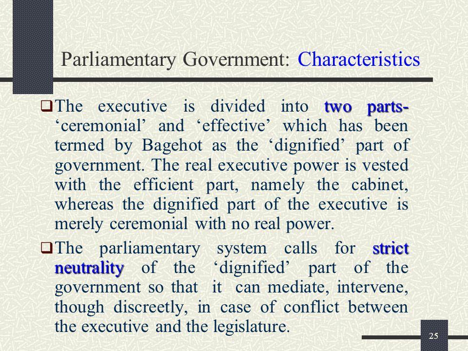 24 Parliamentary Government