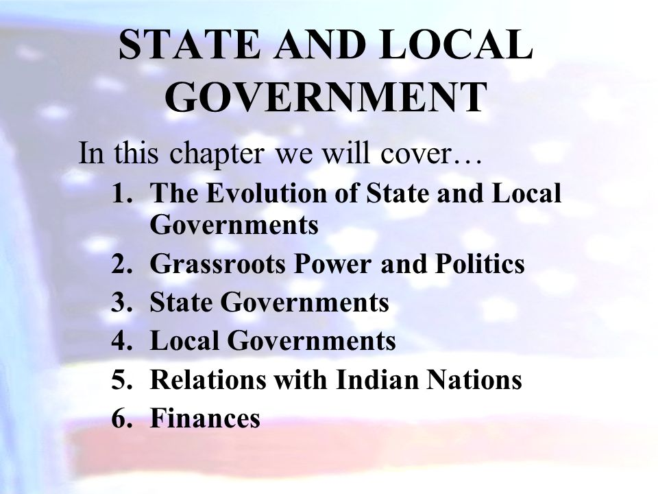 The Evolution of State and Local Governments Governance in the United States is by multiple authorities.
