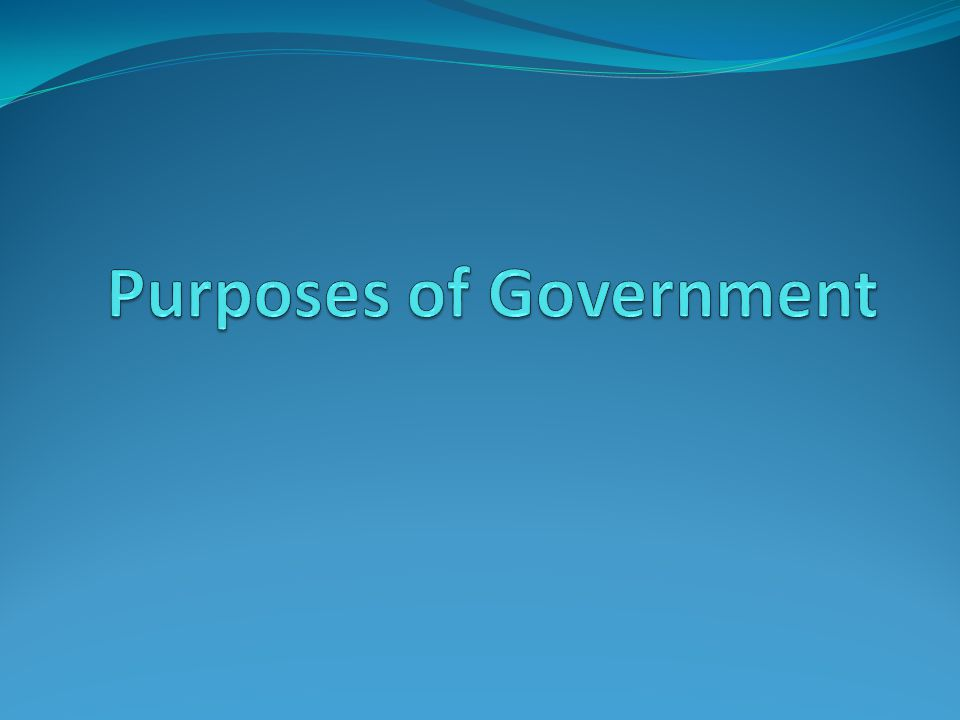 The purpose of government shown in that picture is to… Protect National Security