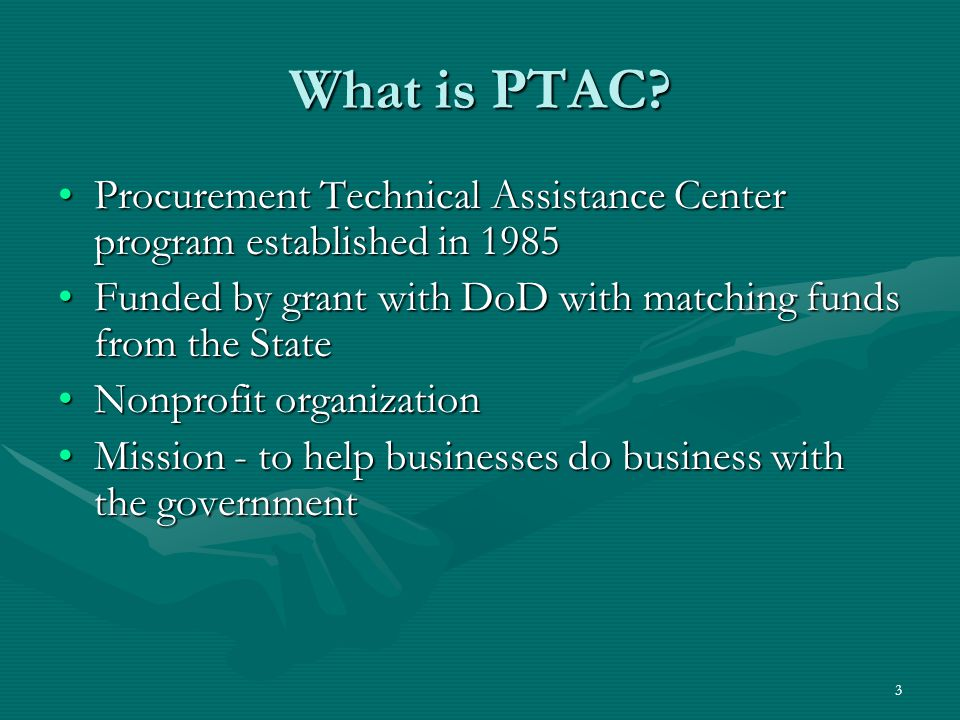 4 Getting Started Identify your—Identify your— –Standard Industrial Classification Codes (SIC Codes) –North American Industrial Classification Codes (NAICS Codes) http://www.census.gov/epcd/www/naics.html http://www.census.gov/epcd/www/naics.html –Get a Data Universal Number System (DUNS) Number (DUN & Bradstreet 1-866-705-5711)