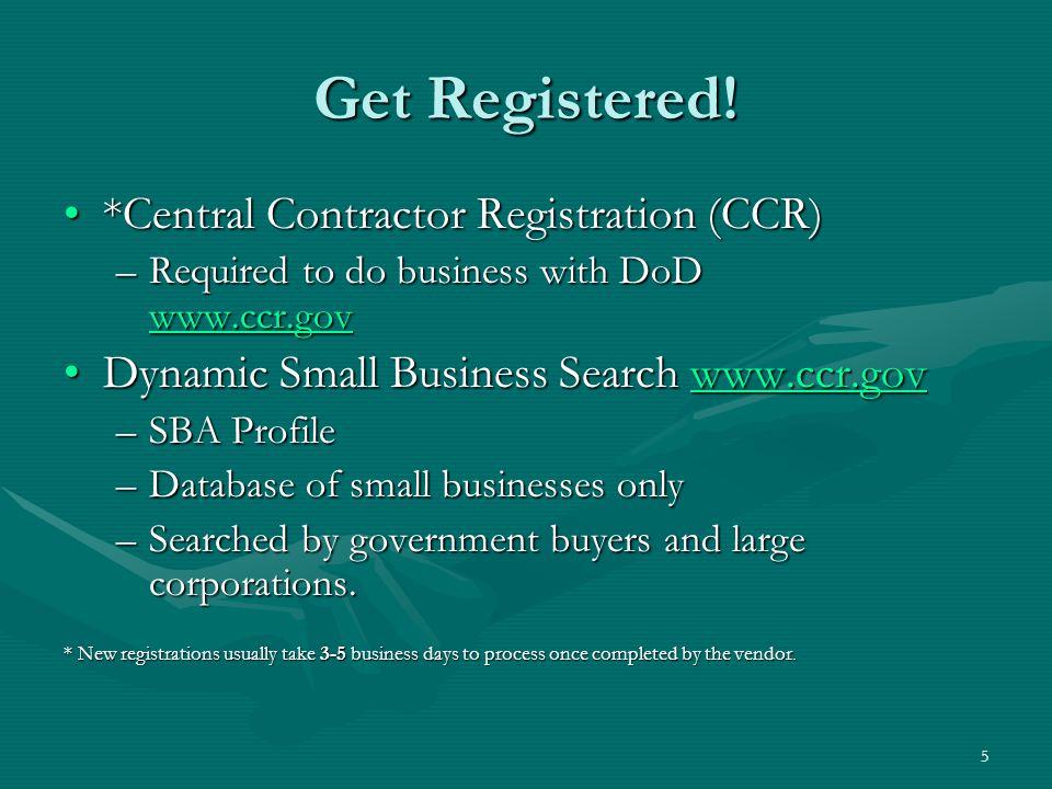 5 Get Registered.