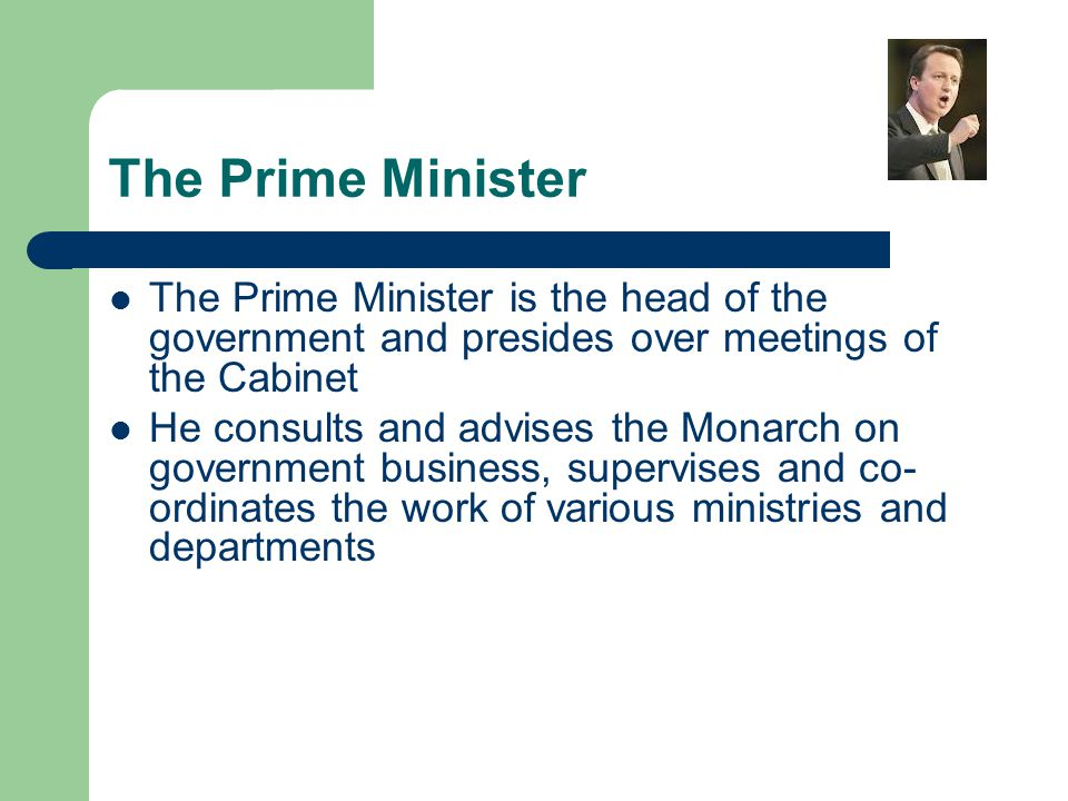 The Cabinet The Cabinet consists of a small group of the most important ministers selected by the Prime Minister Today the number is 23 The Cabinet determines, controls and integrates the policies of the government for submission to Parliament