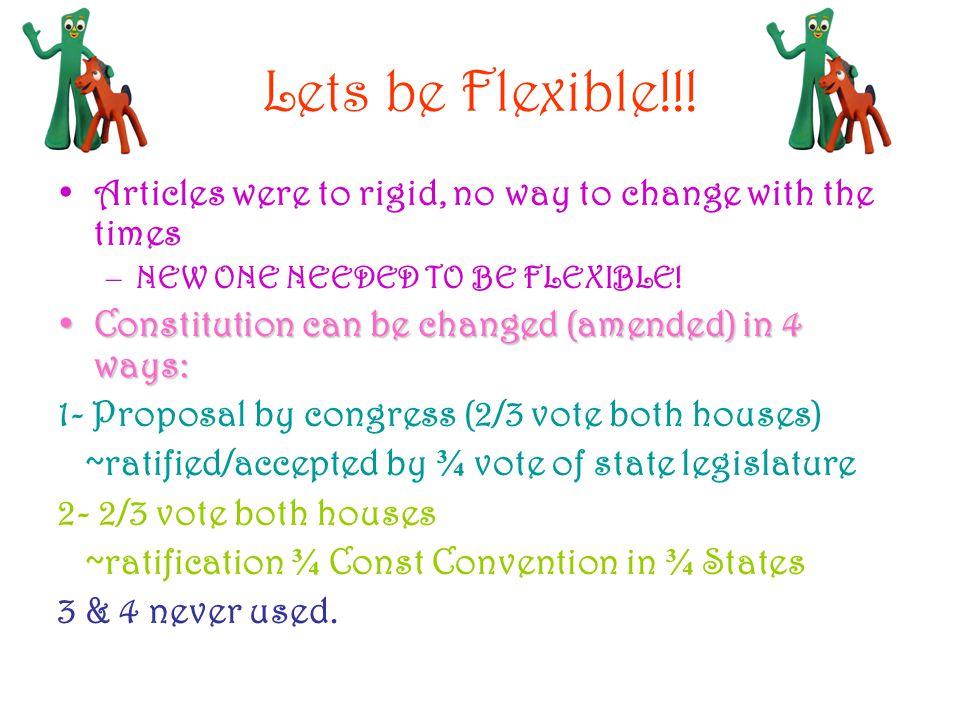 Lets be Flexible!!.