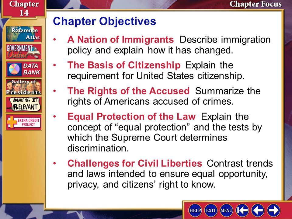 Chapter Assessment 11 3.Predicting Consequences Use a graphic organizer like the one below to show what might happen if there were no formal procedures for becoming an American citizen.
