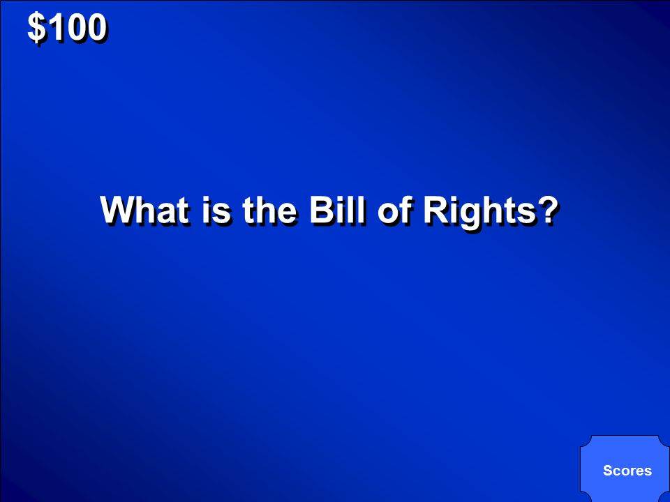 © Mark E. Damon - All Rights Reserved $100 First ten Constitutional Amendments