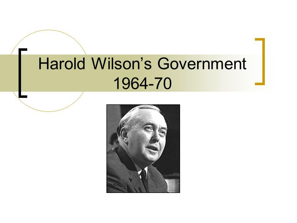 Harold Wilson's Government 1964-70