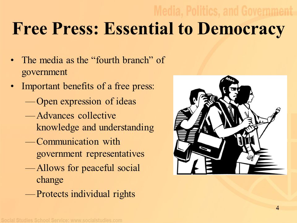 5 Freedom of the Press: History Original intent of the First Amendment was to protect political discussion Limitations on freedom of the press: Original text of the Alien and Sedition Acts (1798) Identifying a clear and present danger and clarifying libel Protection against prior restraint —Alien and Sedition Acts (1798) —Courts defined the scope of freedom of the press