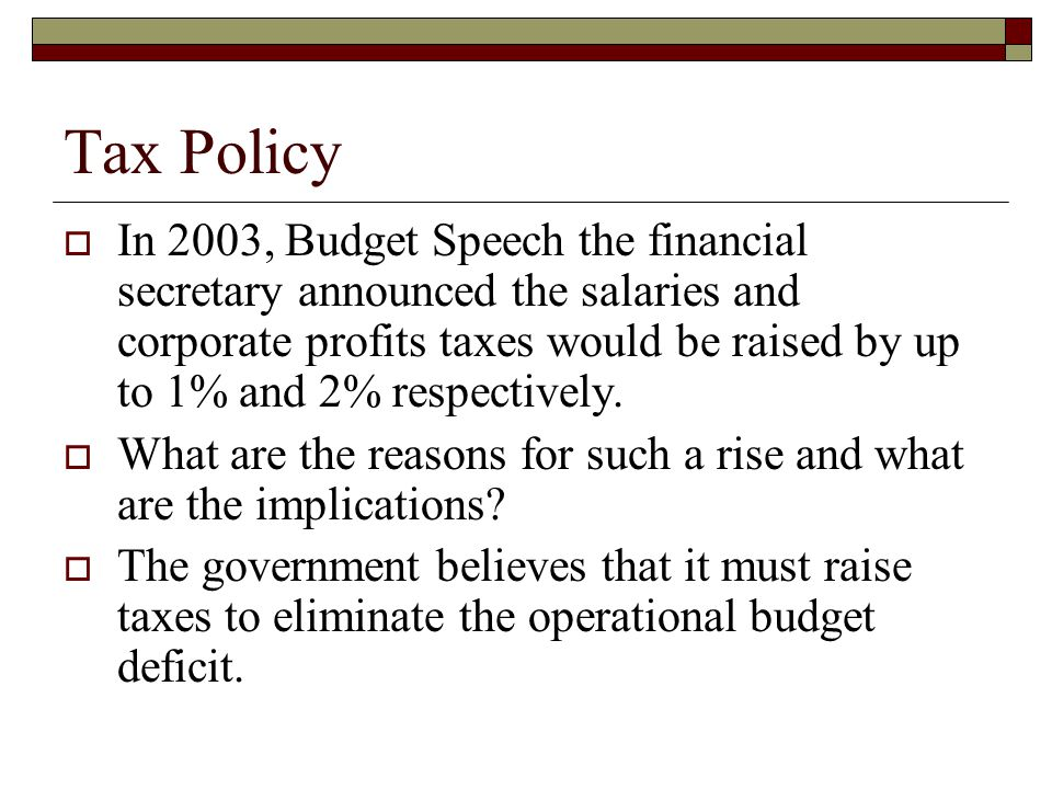 Objectives  Analyze distortions in the economy generated by taxes.