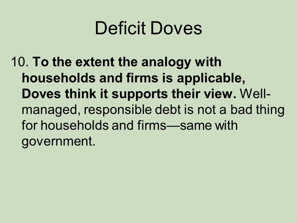 Deficit Doves 10.