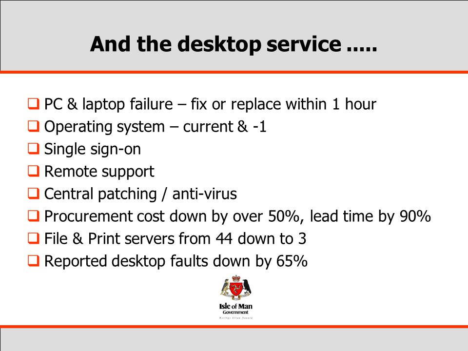 And the desktop service.....