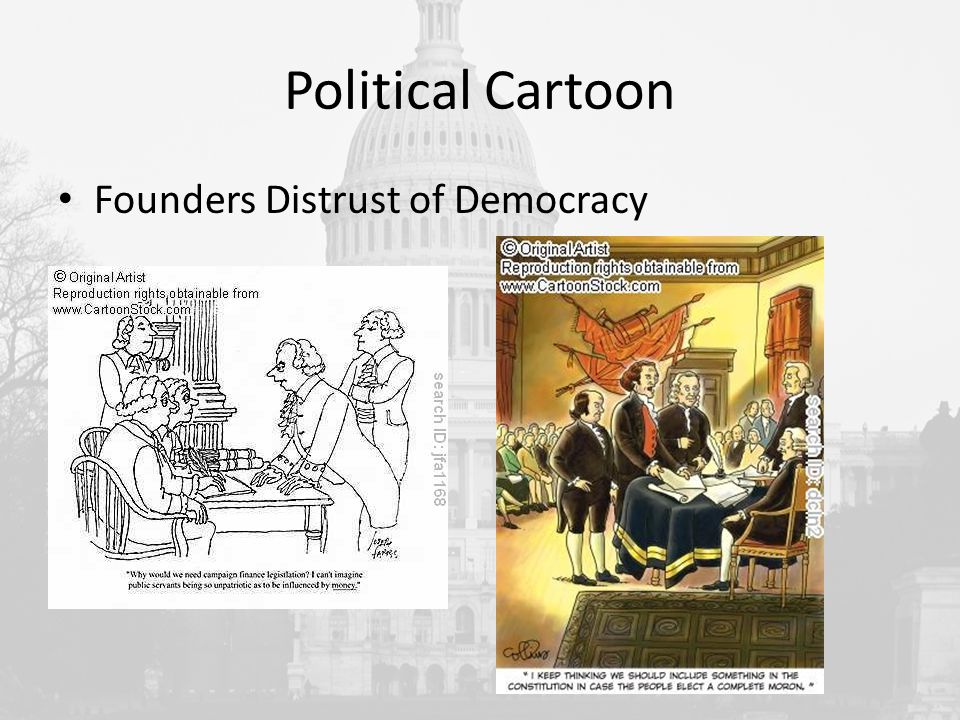 Political Cartoon Founders Distrust of Democracy