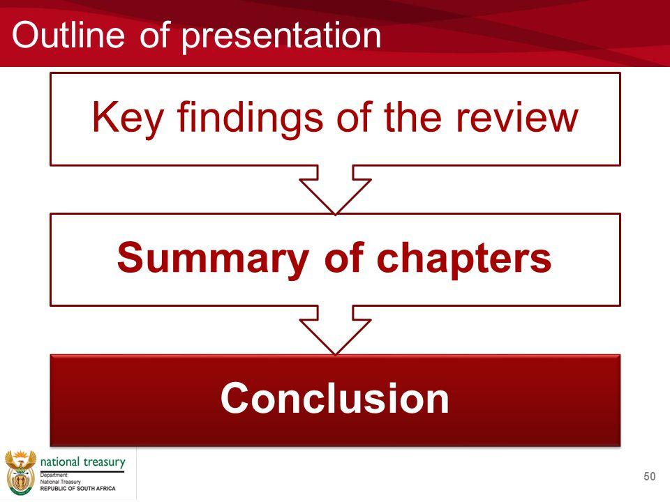 Outline of presentation 50