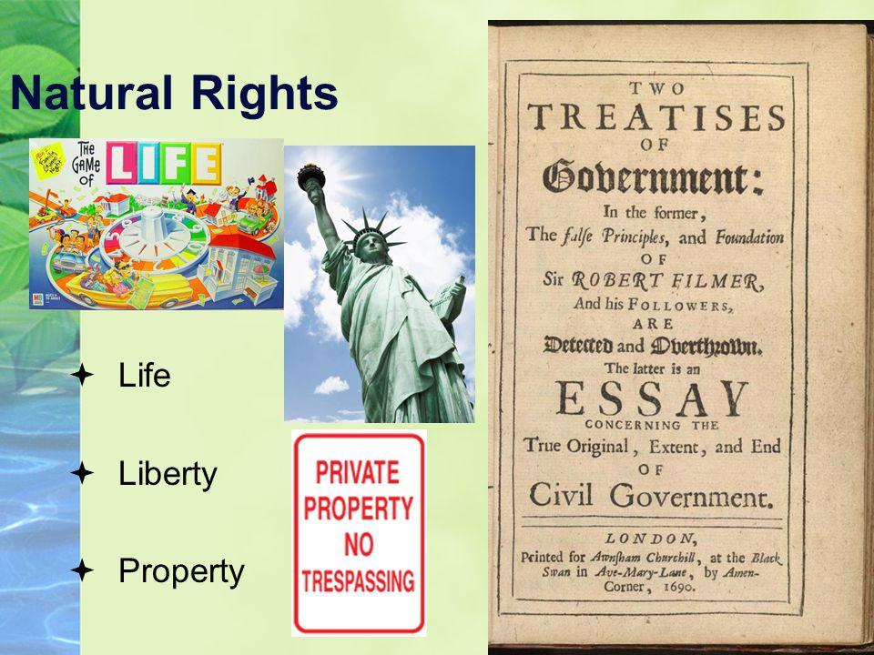 Natural Rights  Life  Liberty  Property