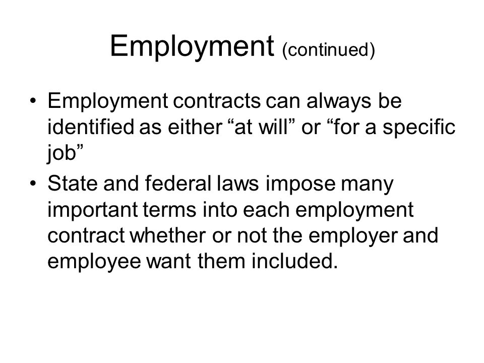 Employment (continued) Minimum pay is regarded as minimum wage.