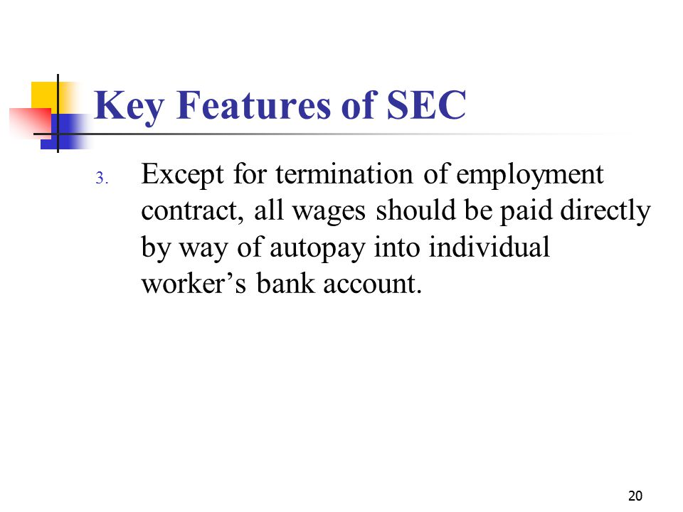 20 Key Features of SEC 3.