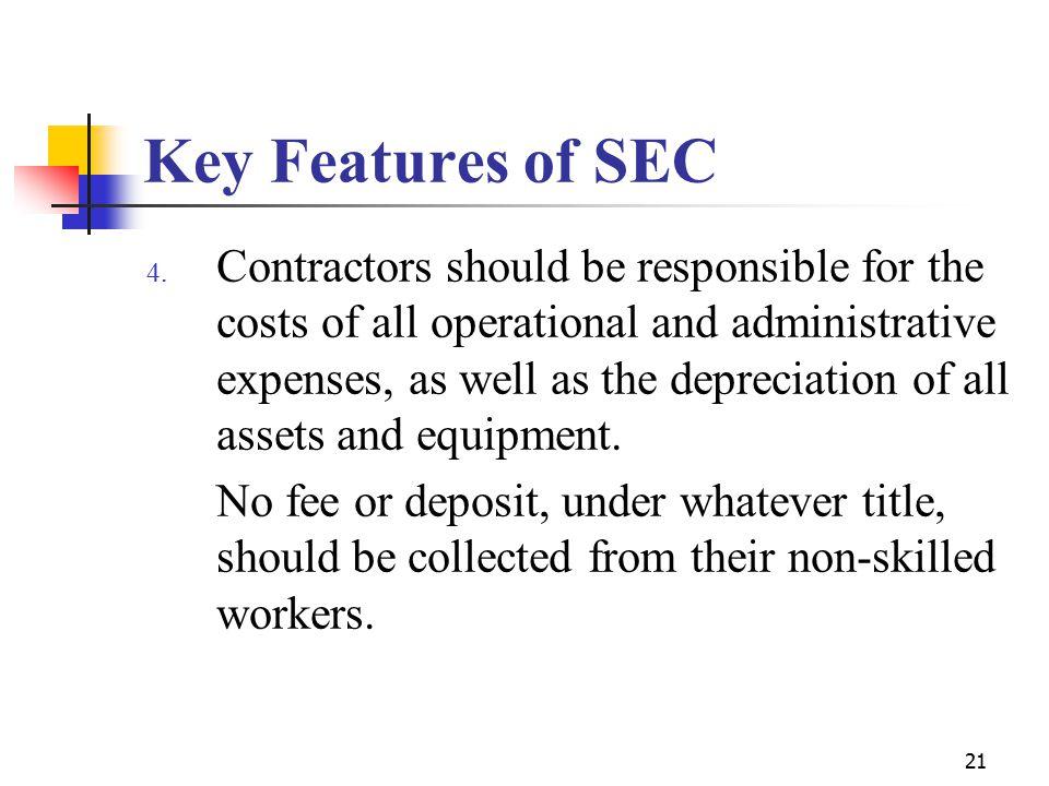 21 Key Features of SEC 4.