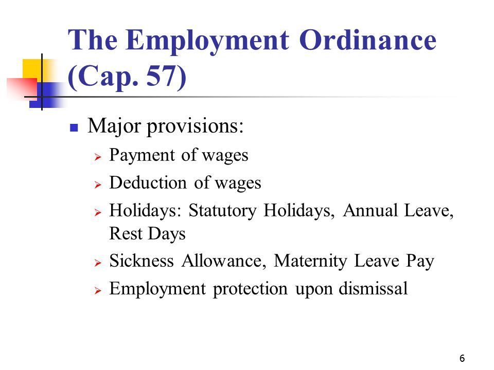 6 The Employment Ordinance (Cap.